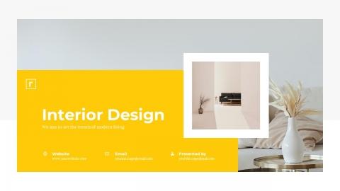 Ratio Interior Design PowerPoint Template