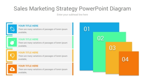 sales marketing strategy powerpoint diagram