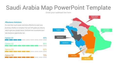 Saudi Arabia map powerpoint template
