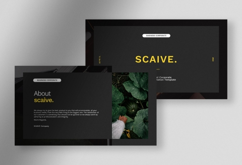 Scaive Clean Professional Corporate Business Presentation