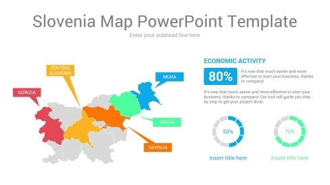 Slovenia map powerpoint template