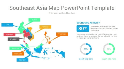 Southeast Asia map powerpoint template