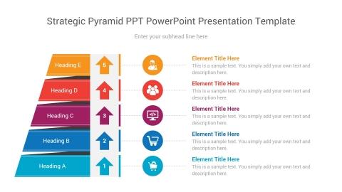 strategic pyramid ppt powerpoint presentation template