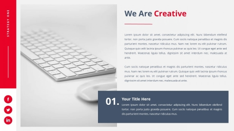 Strategy One Powerpoint Presentation Template