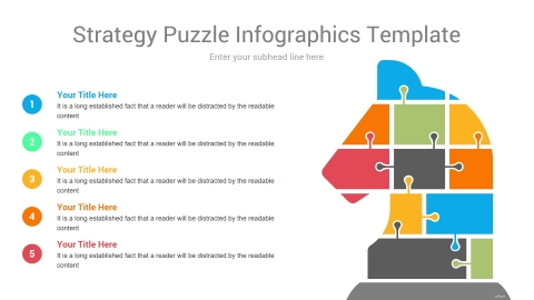 Strategy Puzzle Infographics Template