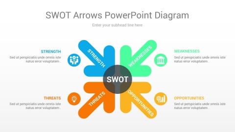 swot arrows powerpoint diagram