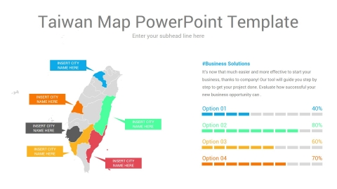 Taiwan map powerpoint template