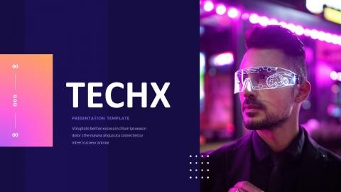 Techx Technology Power Point Template