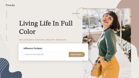 TRENDA Influencer & Content Creator Powerpoint Template