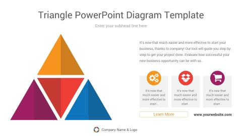 triangle powerpoint diagram template