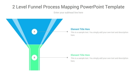 2 Level Funnel Process Mapping PowerPoint Template