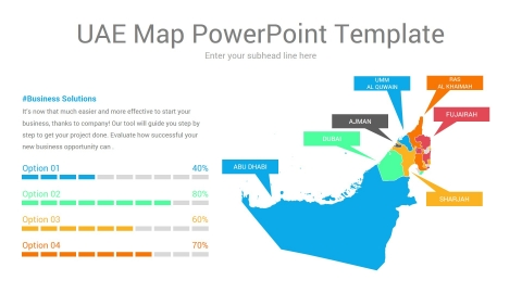 Uae map powerpoint template