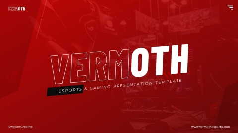 Vermoth Esports & Gaming PowerPoint Template