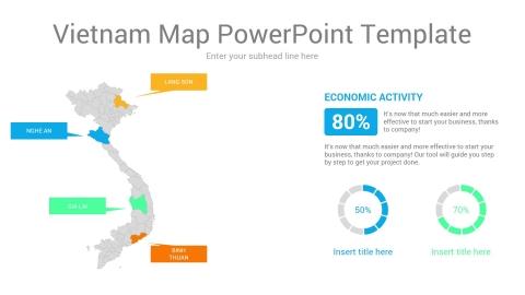 Vietnam map powerpoint template