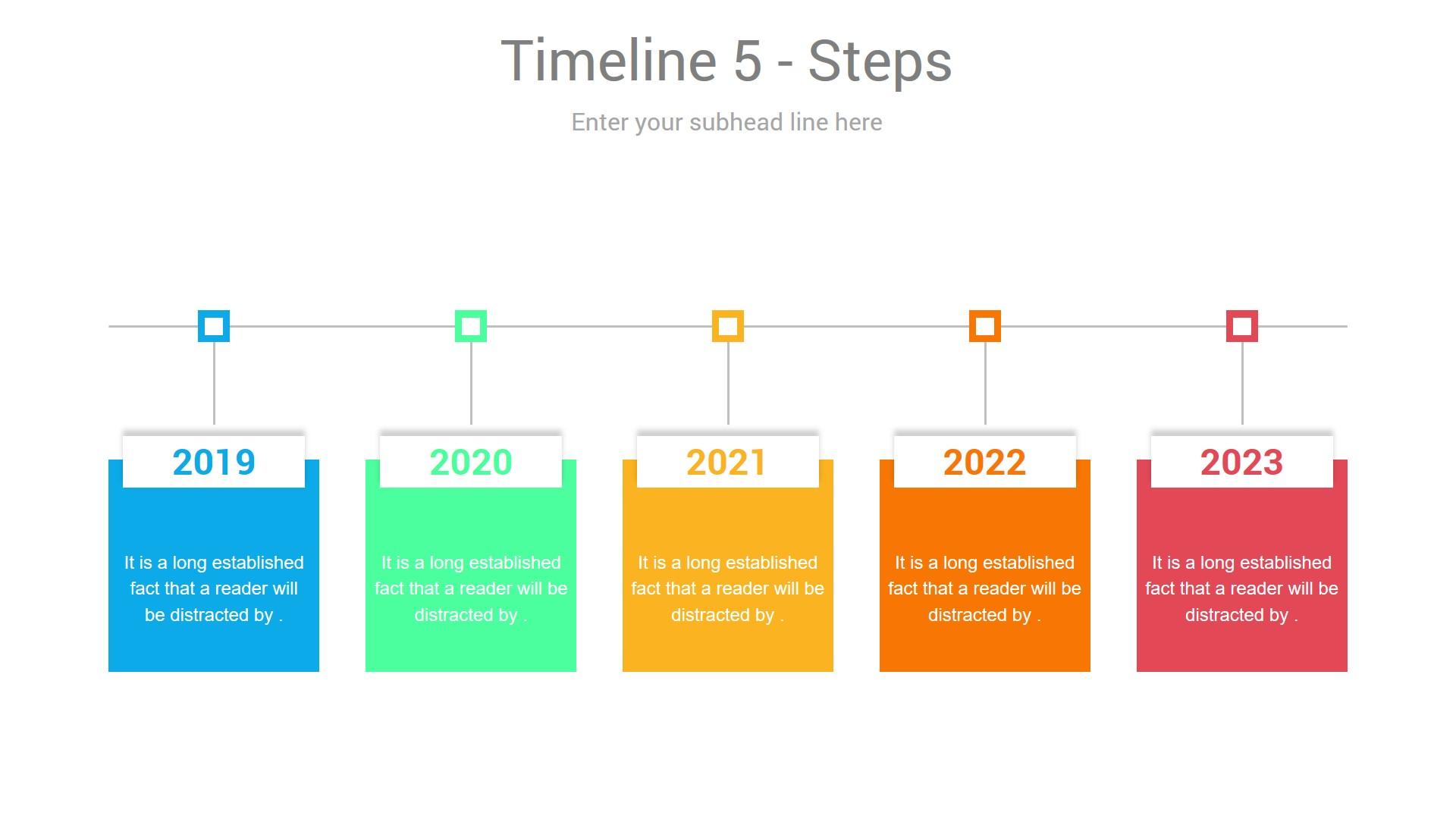 Timeline Development PPT slides
