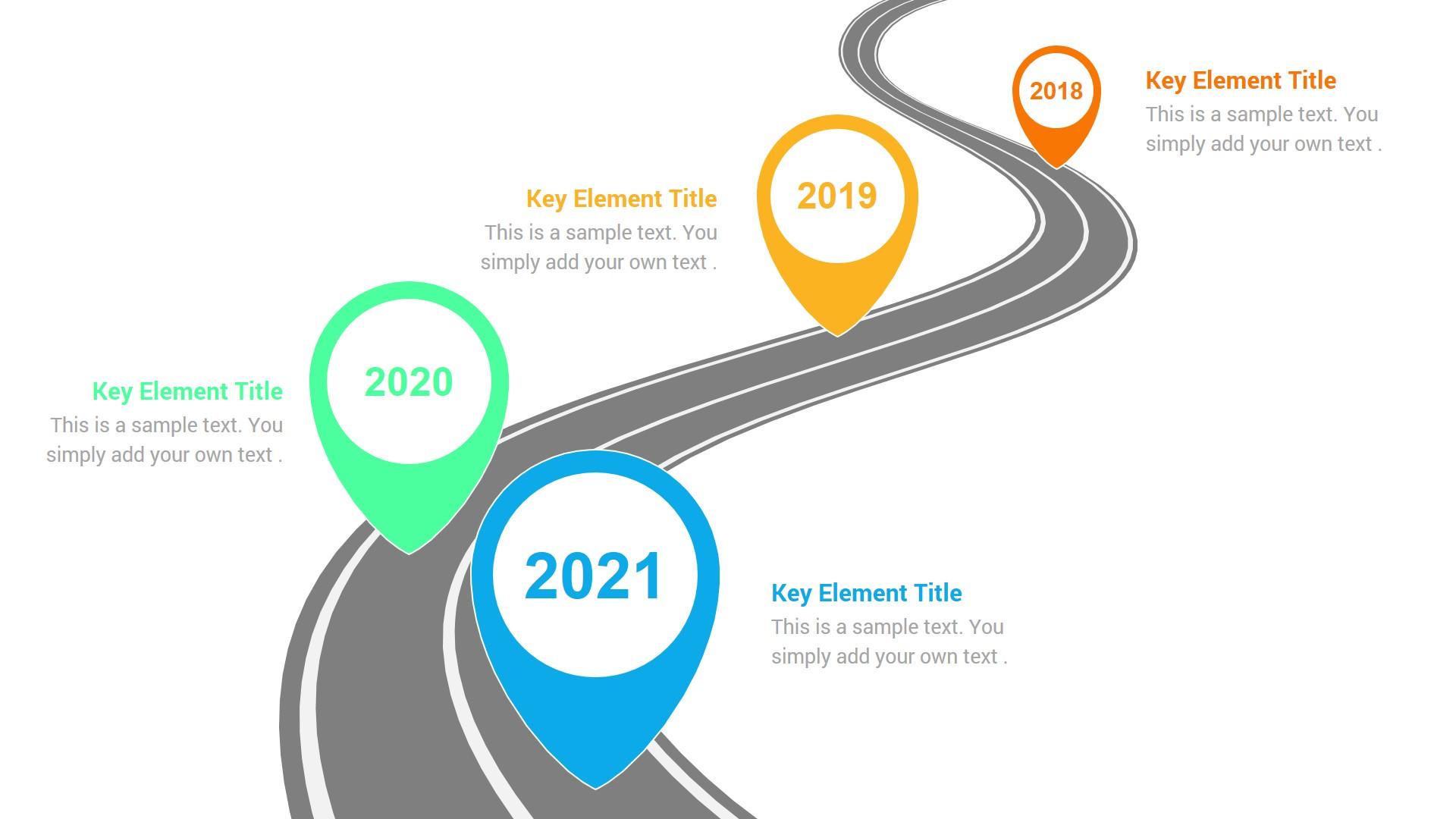 Timeline Roadmap With Milestones Powerpoint Slides