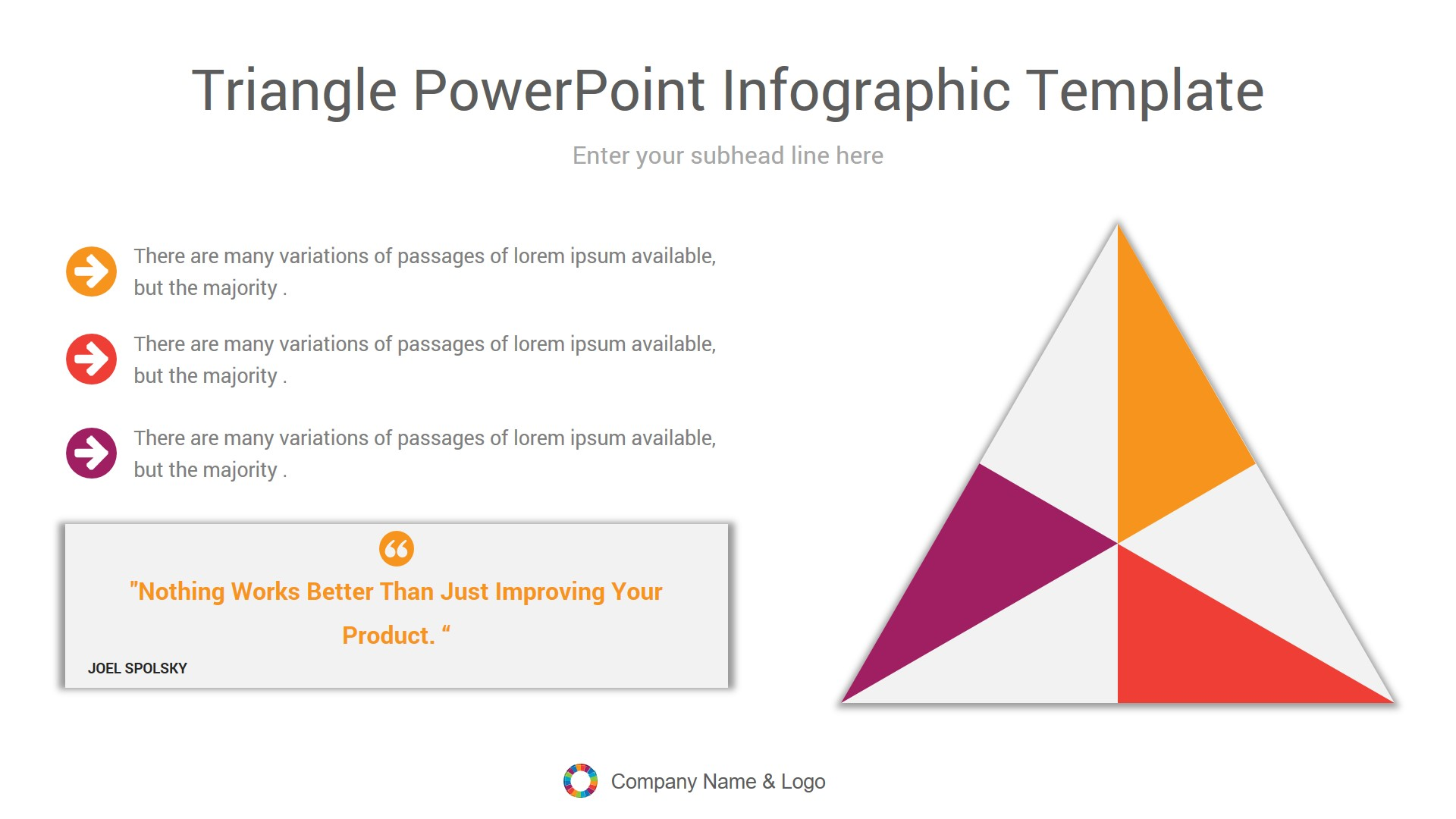 triangle powerpoint Infographic template