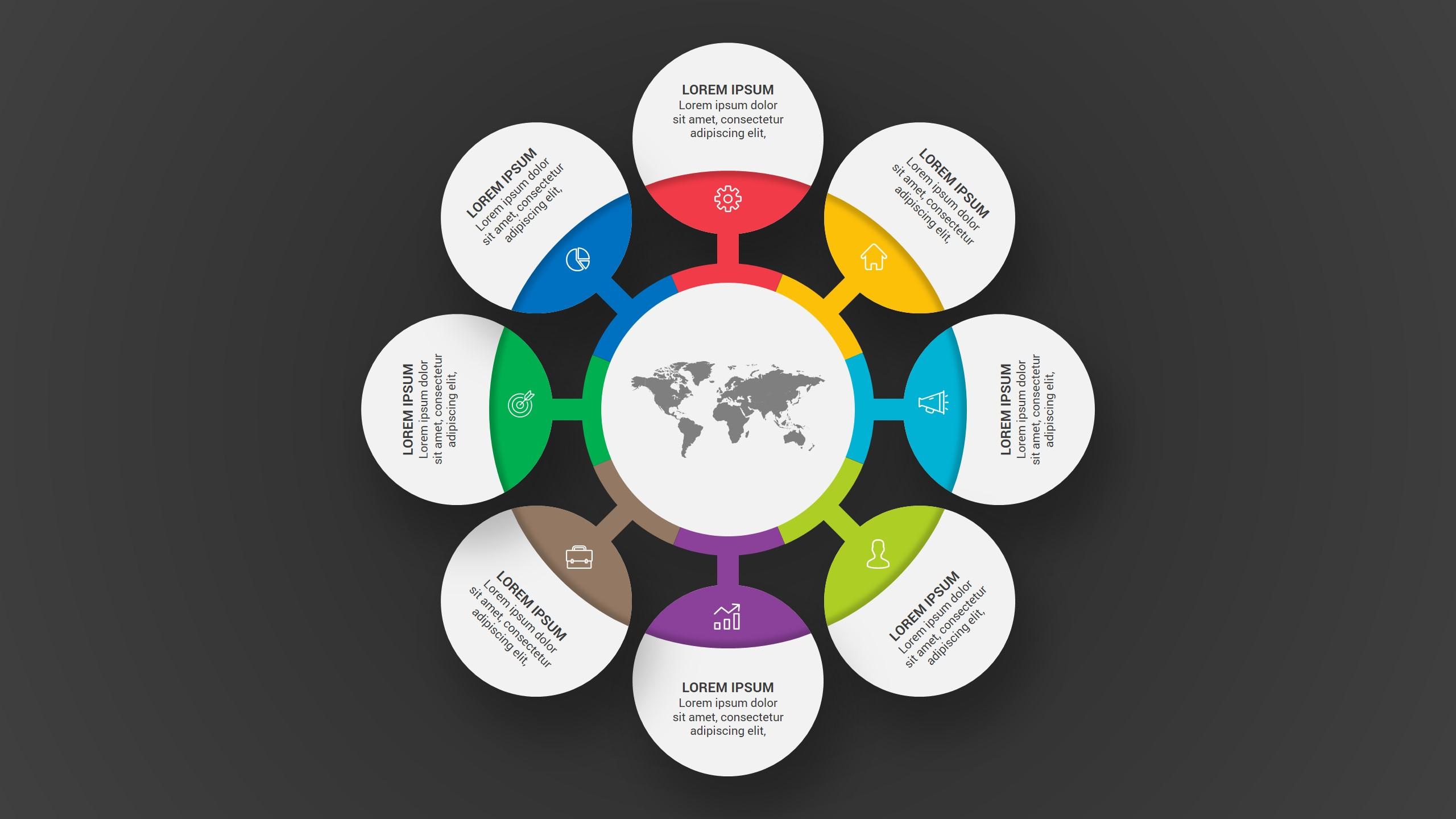 Unique Business Infographic PowerPoint Template Design