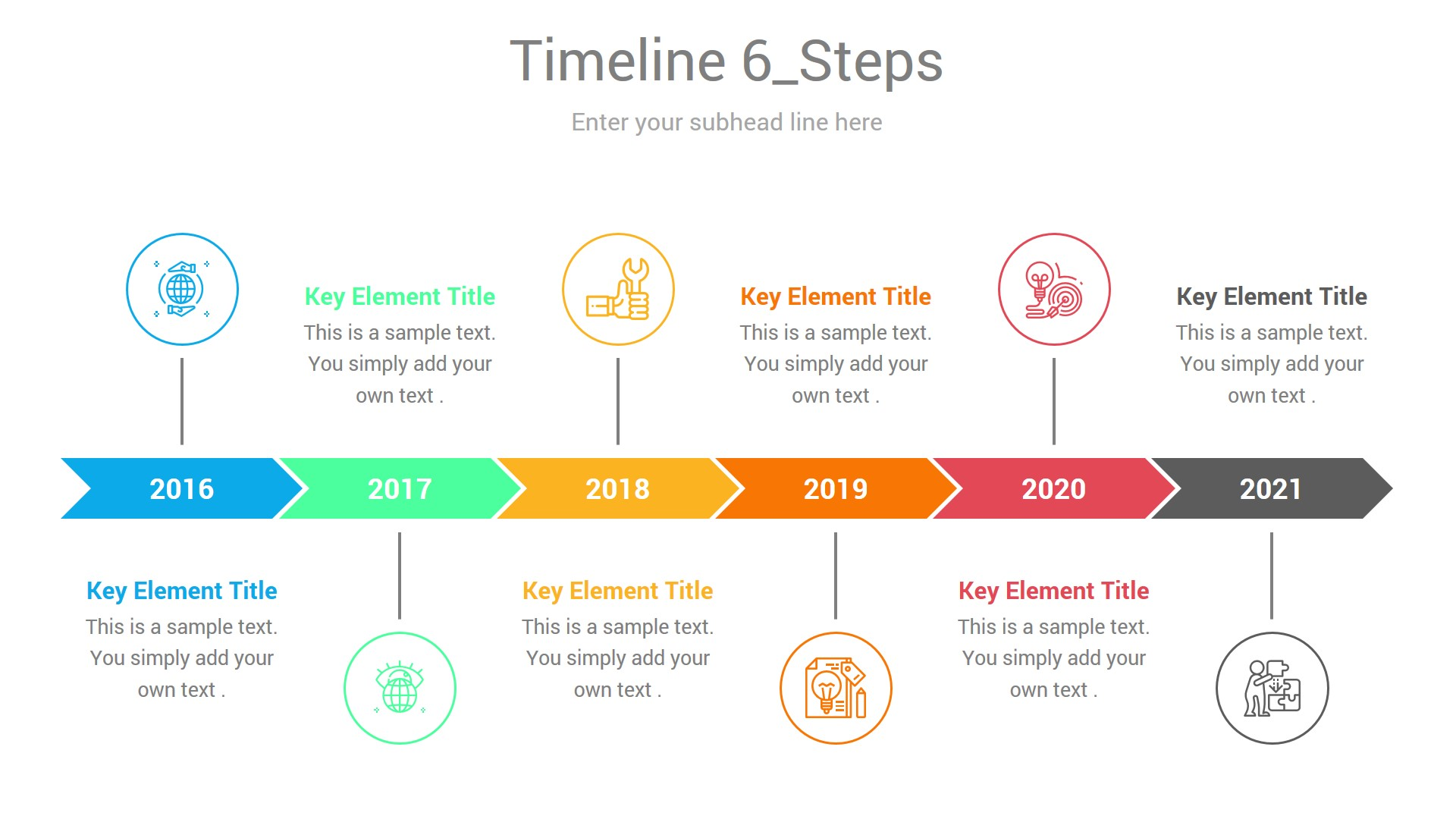 yearly timeline project infographic